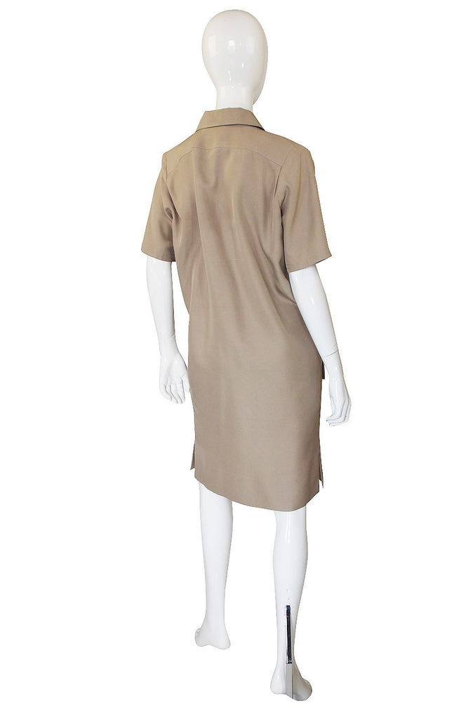 1980s Yves Saint Laurent Safari Sack Dress