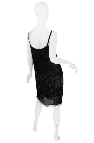 1980s Gianfranco Ferre Beaded Fringe Mini Dress