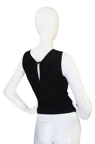 c1996 Tom Ford for Gucci Black Knit Tank Top