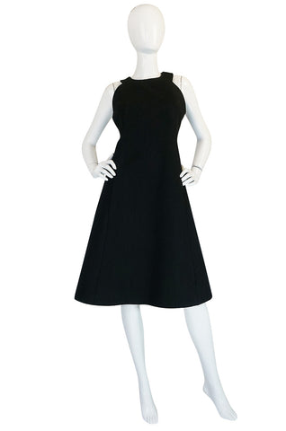 Graphic 1960s James Galanos Silk & Wool Dress & Jacket Set