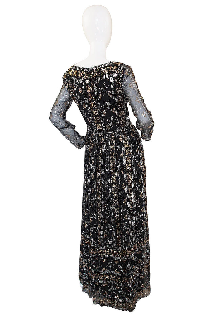 1960s Glitter & SIlk Malcolm Starr Gown