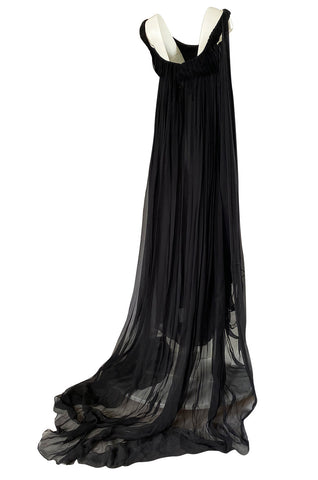 Fall 2008 Alexander McQueen 'The Girl Who Lived in the Trees' Silk Chiffon Dress