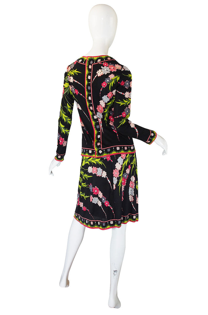 1960s Silk Jersey Emilio Pucci Skirt & Top Set
