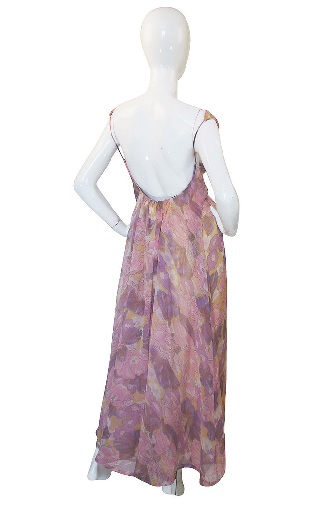 1970s Giorgio di Sant Angelo Backless Dress & Jacket