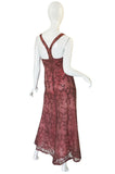 1990s Dusky Pink Beaded Net & Applique Valentino Dress