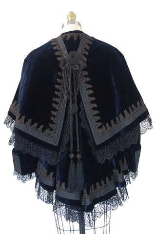 Elaborate Victorian Velvet Jacket with Overlay