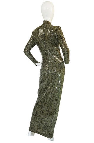 Iconic S/S 1983 Thierry Mugler Sequin Snakeskin Python Dress