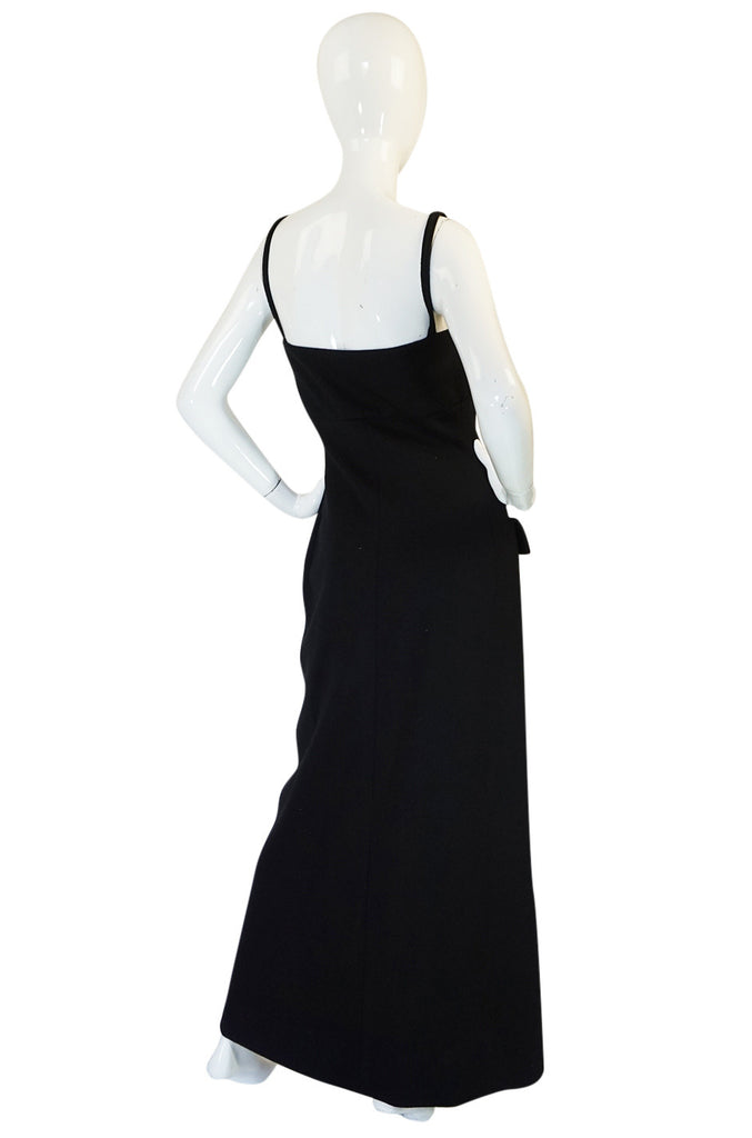 1960s Button Front Long Fitted Geoffrey Beene Boutique Dress