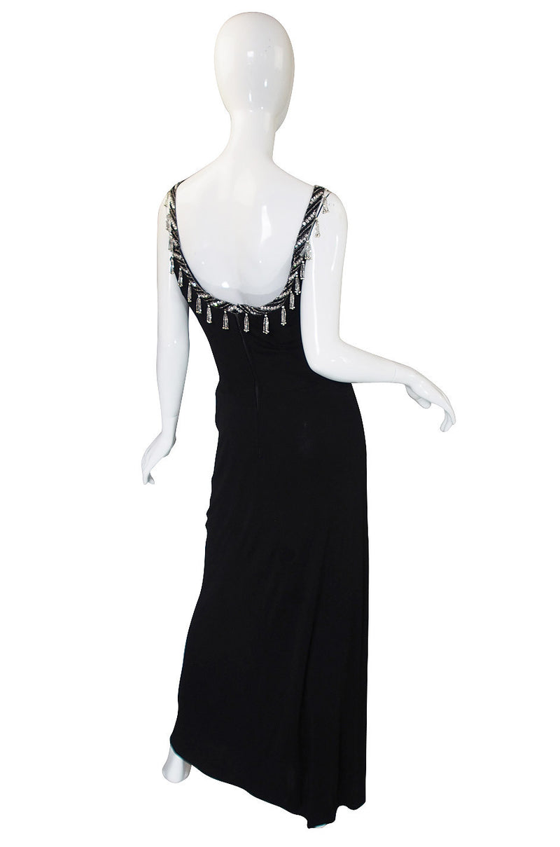 1970s Beaded Bob Mackie Silk Jersey Gown