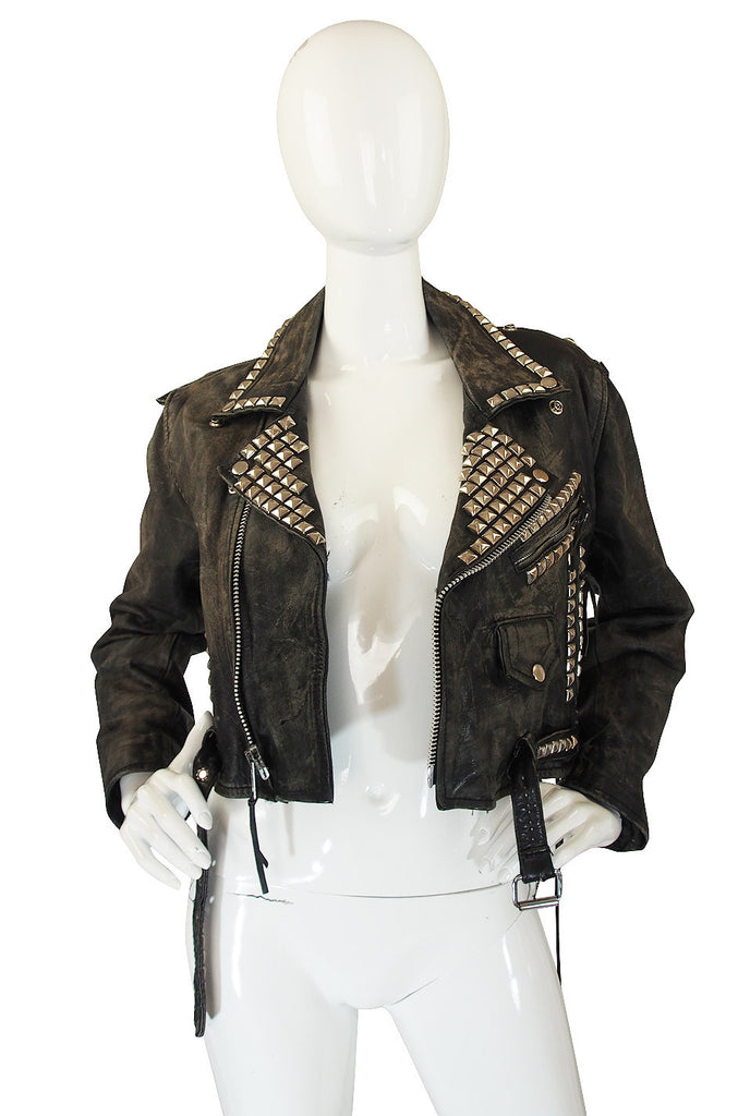 1970s Motorcross Studded Leather Jacket