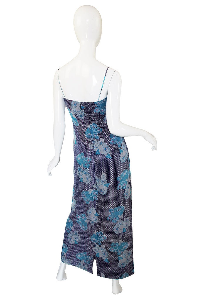 1970s Pierre Balmain Silk Voile Print Dress