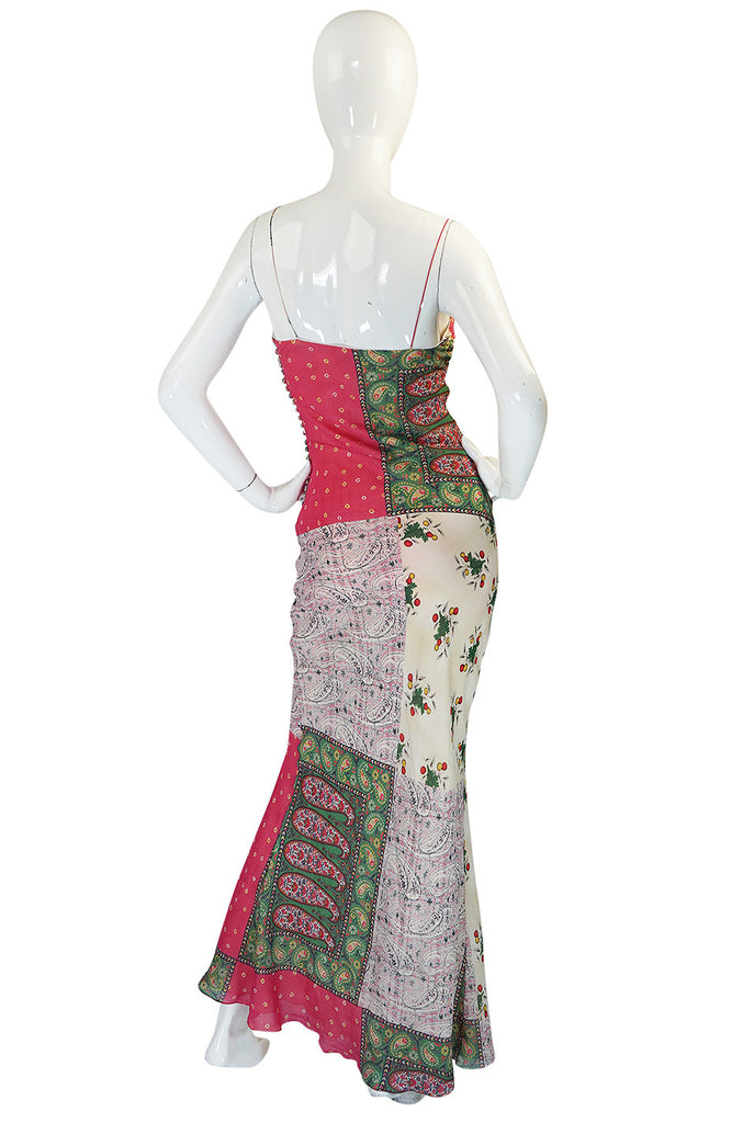 "1990s Galliano for Christian Dior Pink Silk ""Patchwork"" Dress"