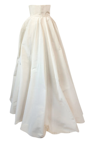 F/W 1996 Givenchy Couture Runway Ivory Silk Taffeta Over Skirt Cape