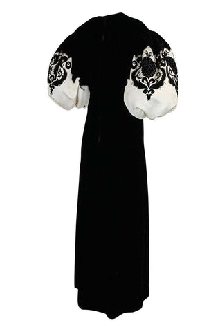 1960s Pierre Balmain Haute Couture Lesage Beaded Velvet Dress