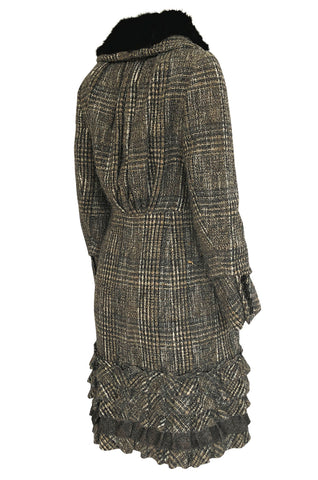 Fall 2006 Louis Vuitton Tweed Boucle Coat with Detachable Collar