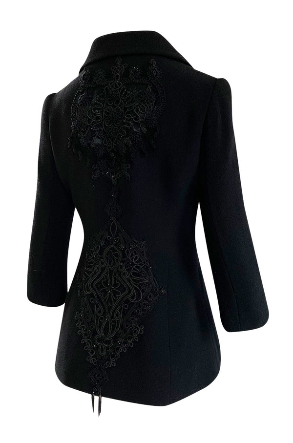 Immaculate 1990s Christian Lacroix Haute Couture Tailored Jacket w Extravagant Buttons