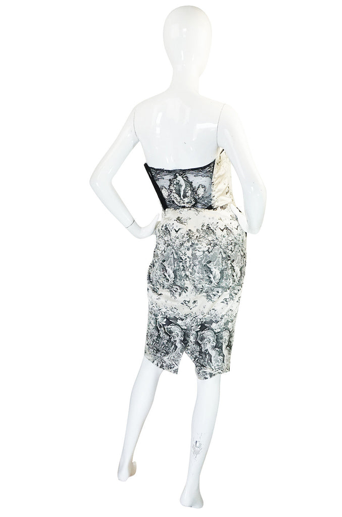 F/W 2007 Jean Paul Gaultier Baroque Strapless Silk Dress