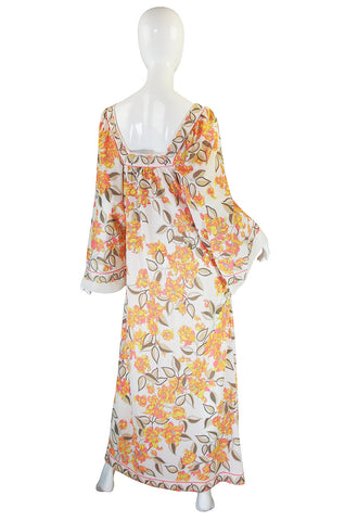 1960s Emilio Pucci for Formit Rogers Printed Caftan Dress