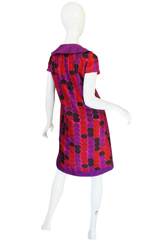 1960s Pierre Cardin for Takashimaya Silk Print Dress