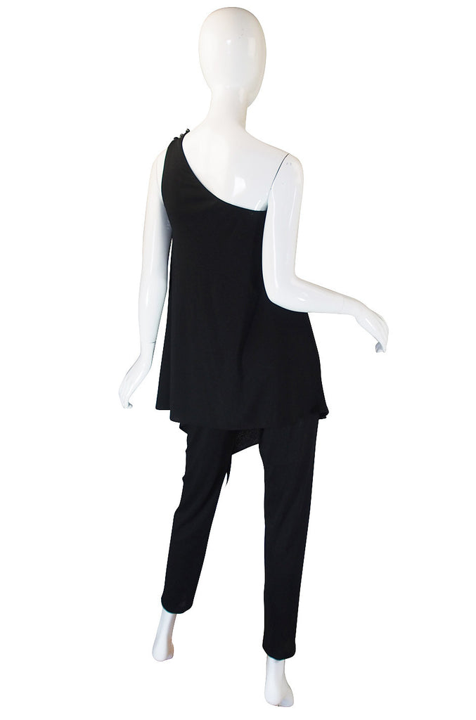 1970s Joy Stevens Black Jersey Jumpsuit