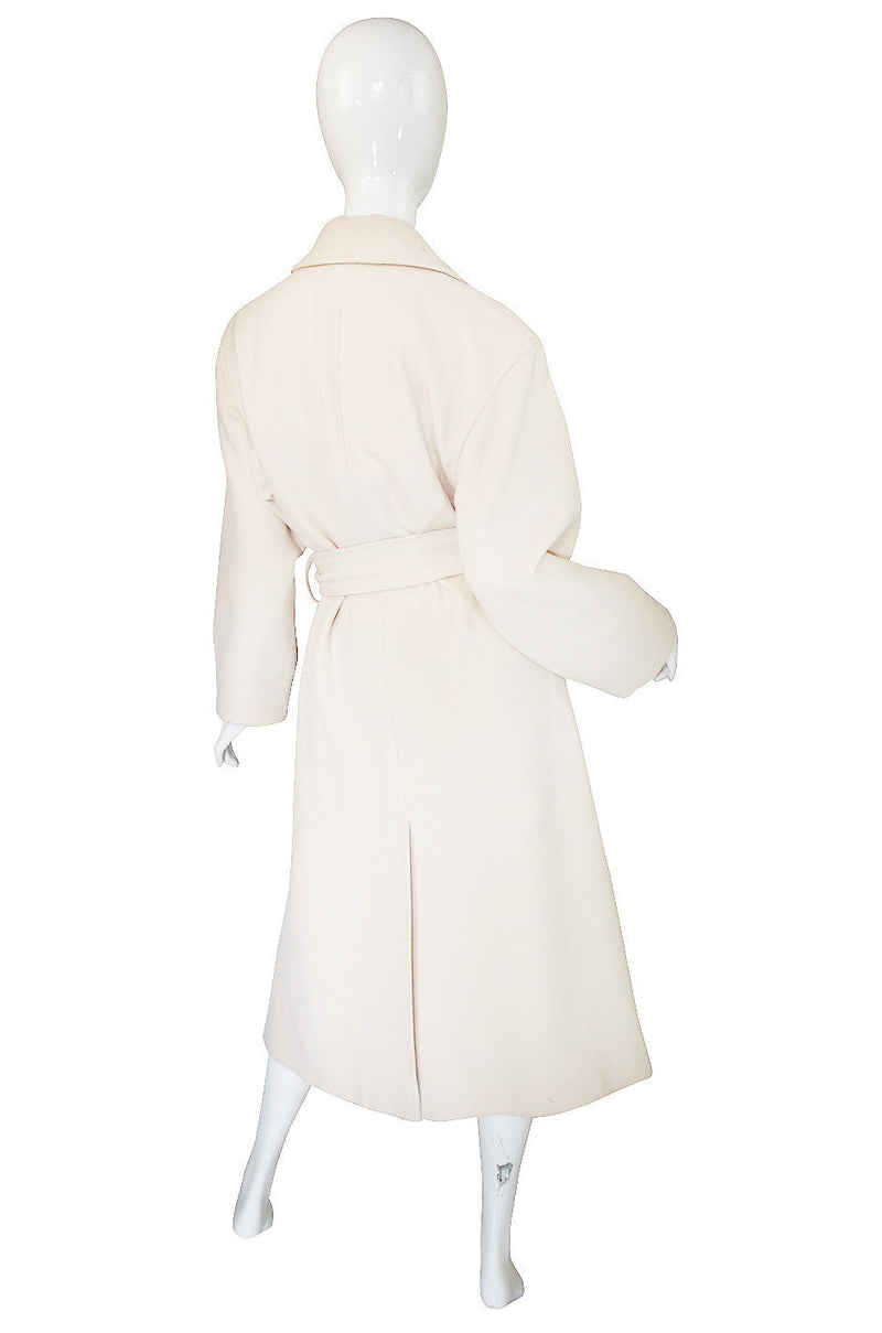 1980s Claude Montana Oversized Wool Coat