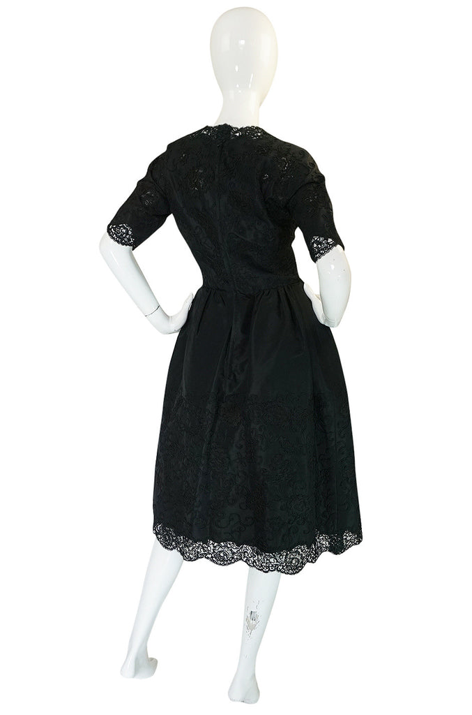 Dated 1960 Sophie Gimbel Attr Saks 5th Ave Soutache & Silk Dress