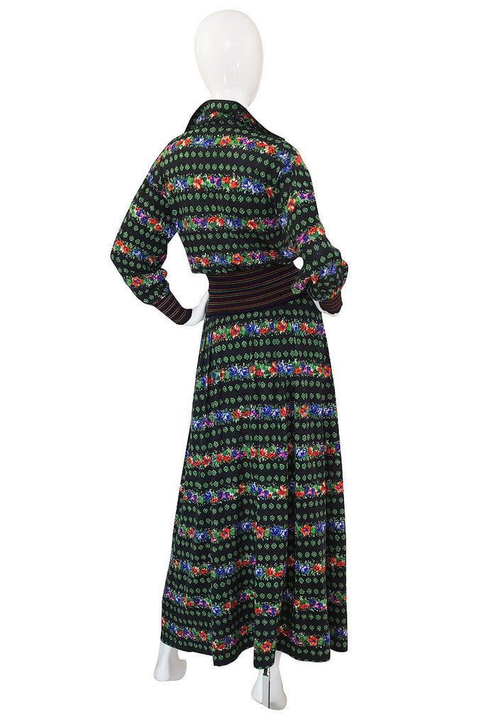 1970s Floral Missoni Maxi Skirt and Top Set