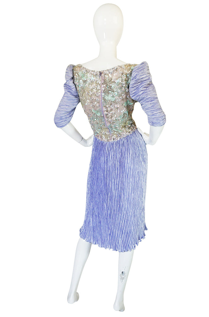 1980s Mary McFadden Couture Sequin & Beaded Dress