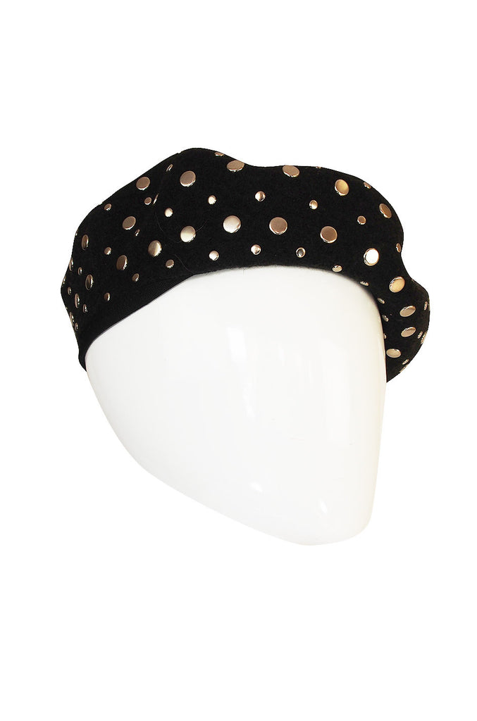 Fall 2000 Silver Studded Sonia Rykiel Book Piece Beret