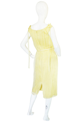 F/W 2005 Alexander McQueen Documented Runway Yellow Silk Dress