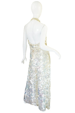 c1967 Couture Donald Brooks Silk and Pailettes Jumpsuit