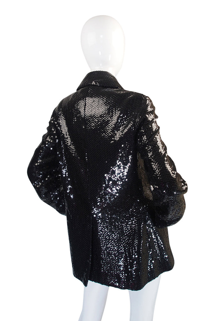 Nan Kempner's 1970s Sequined Bill Blass Peacoat
