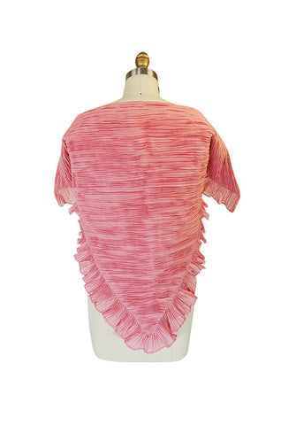 Rare 1960s Pale Pink Signature Pleat Sybil Connolly Wrap