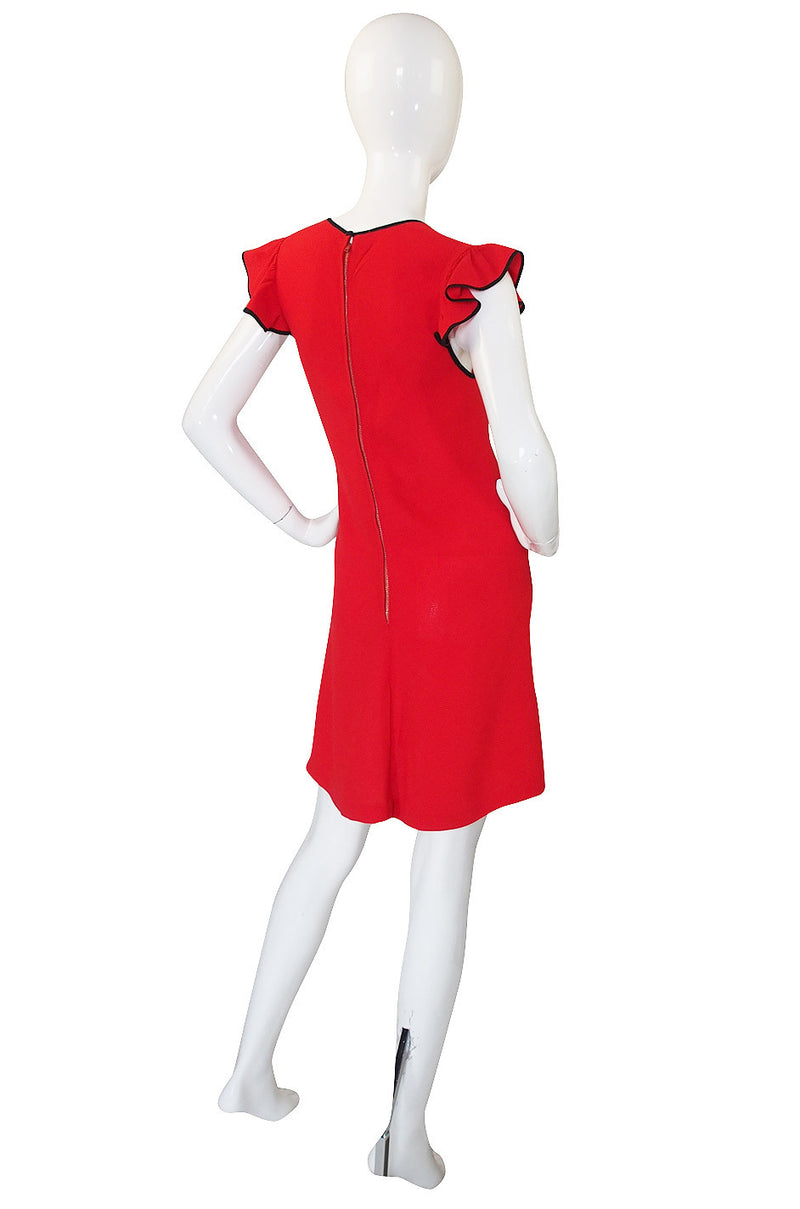 1970s Radley by Ossie Clark Cut Out Dress
