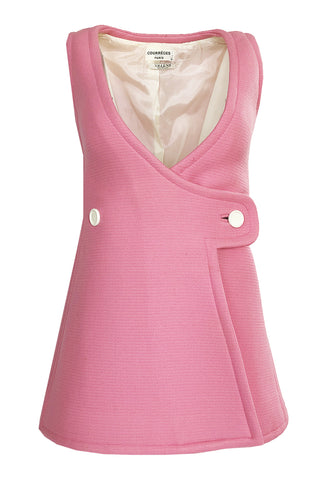 49661ba6 1967 Andre Courreges Haute Couture Pink Micro Mini Dress or Tunic