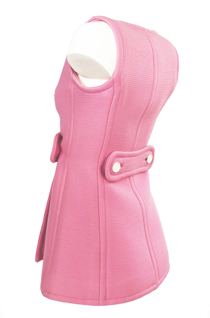 1967 Andre Courreges Haute Couture Pink Micro Mini Dress or Tunic
