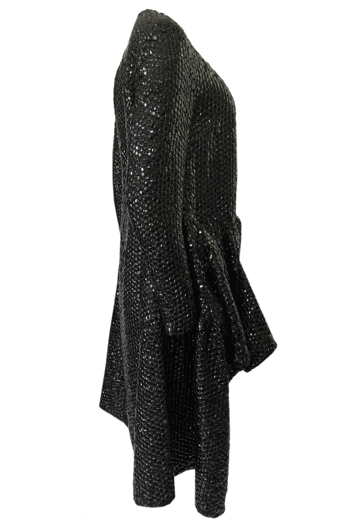 Fall 2008 Yves Saint Laurent by Stefano Pilati Runway Metal Sequin Coat