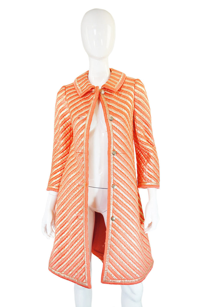1967 Christian Dior Couture Striped Coat