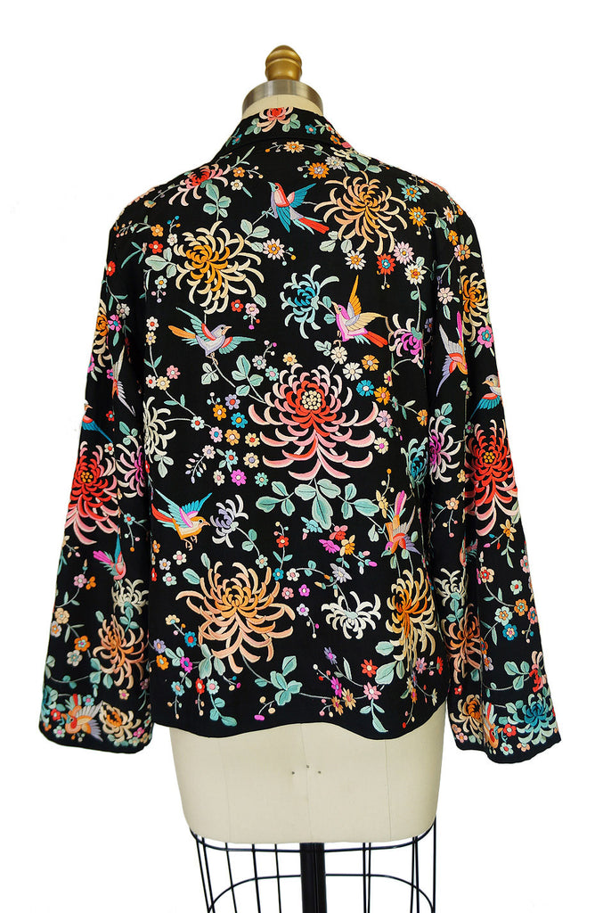 1920s Colorful Embroidered Silk Jacket