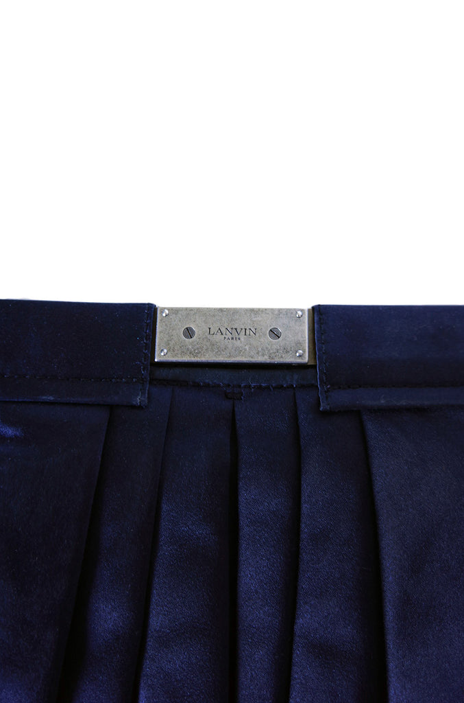Recent Lanvin Huge Navy Satin Bag