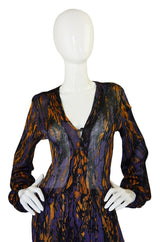 1970s Yves Saint Laurent Silk Knit Dress
