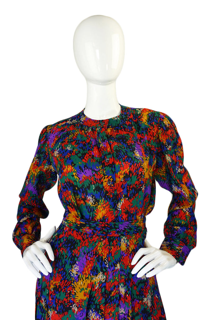 1970s Yves Saint Laurent Top & Skirt Set