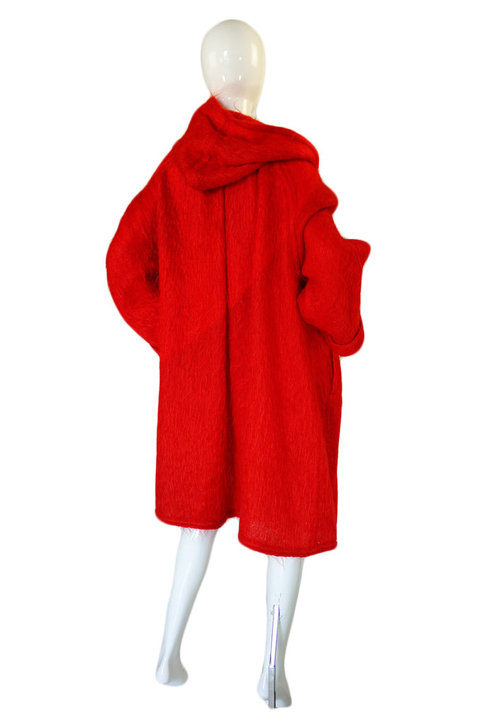 Rare 1970s Red Mohair J. Tiktiner Coat