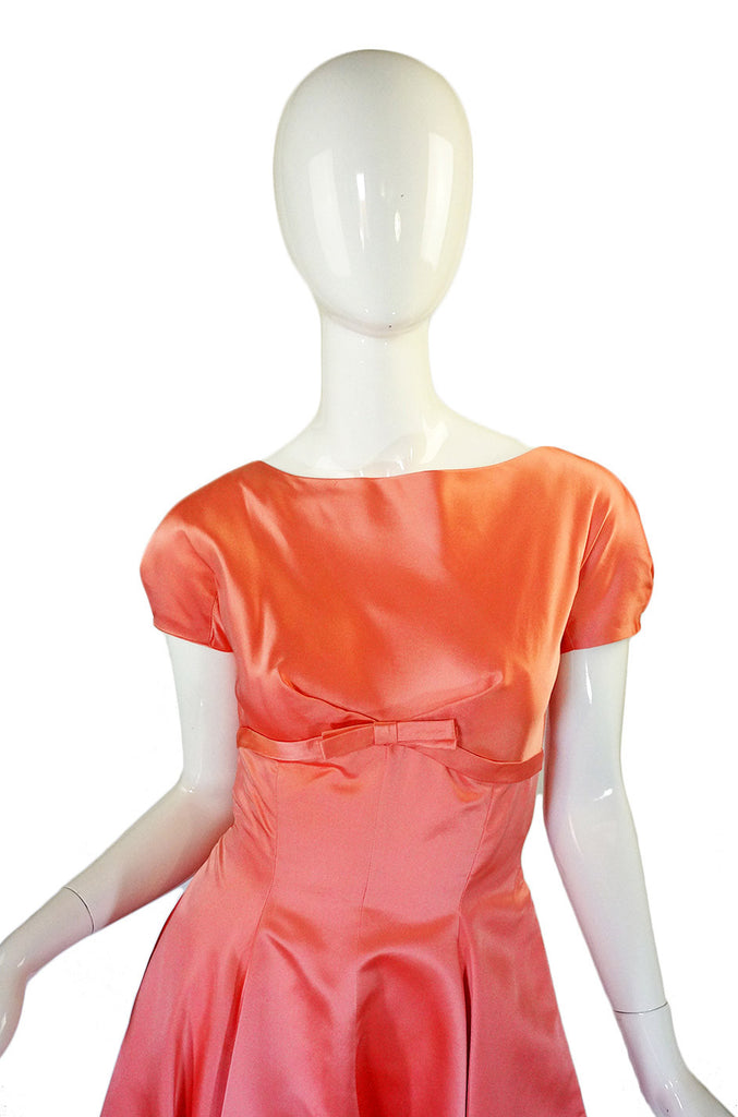 1950s Harvey Berin Silk Peach Dress