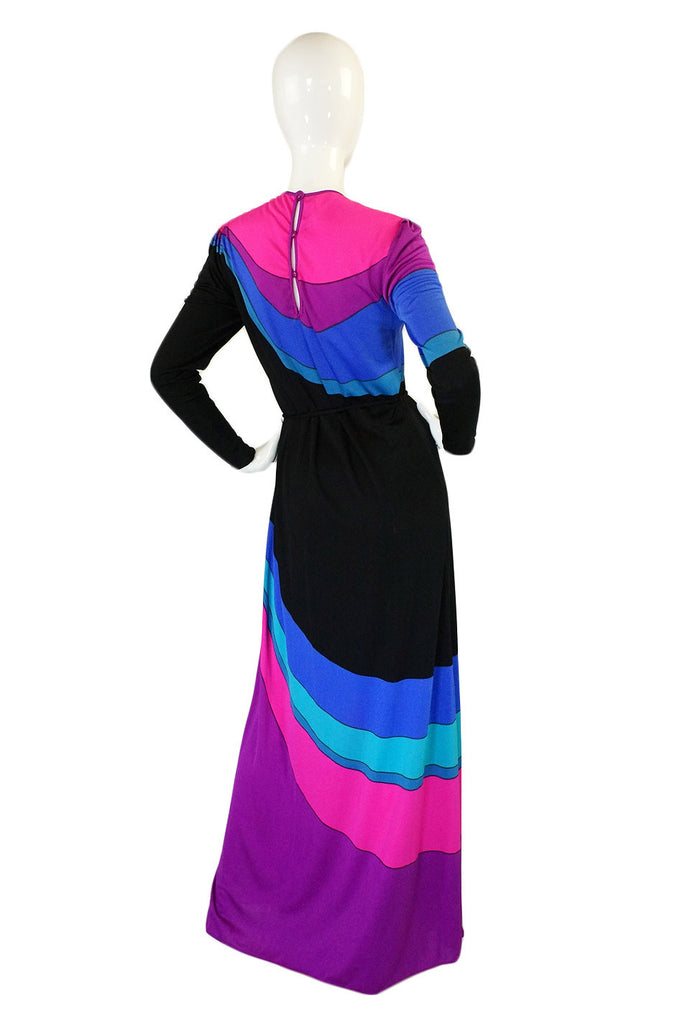 1960s Rare Louis Feraud Rainbow Dress