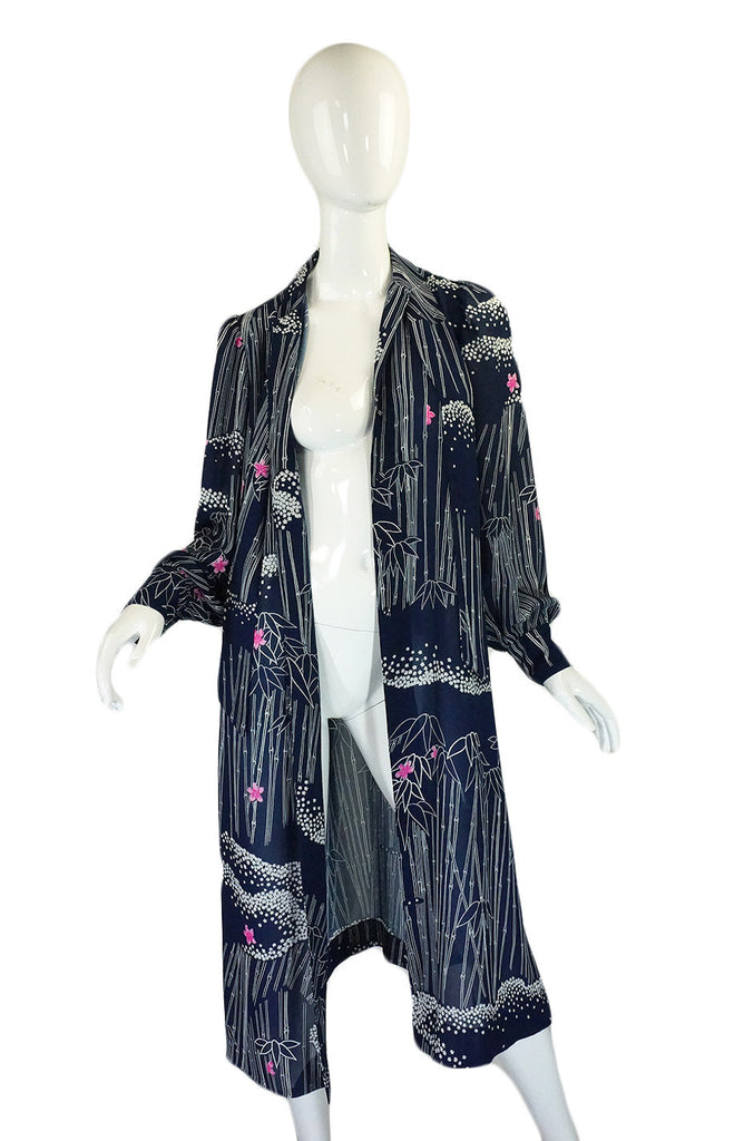 1970s Silk Hanae Mori Jacket or Dress