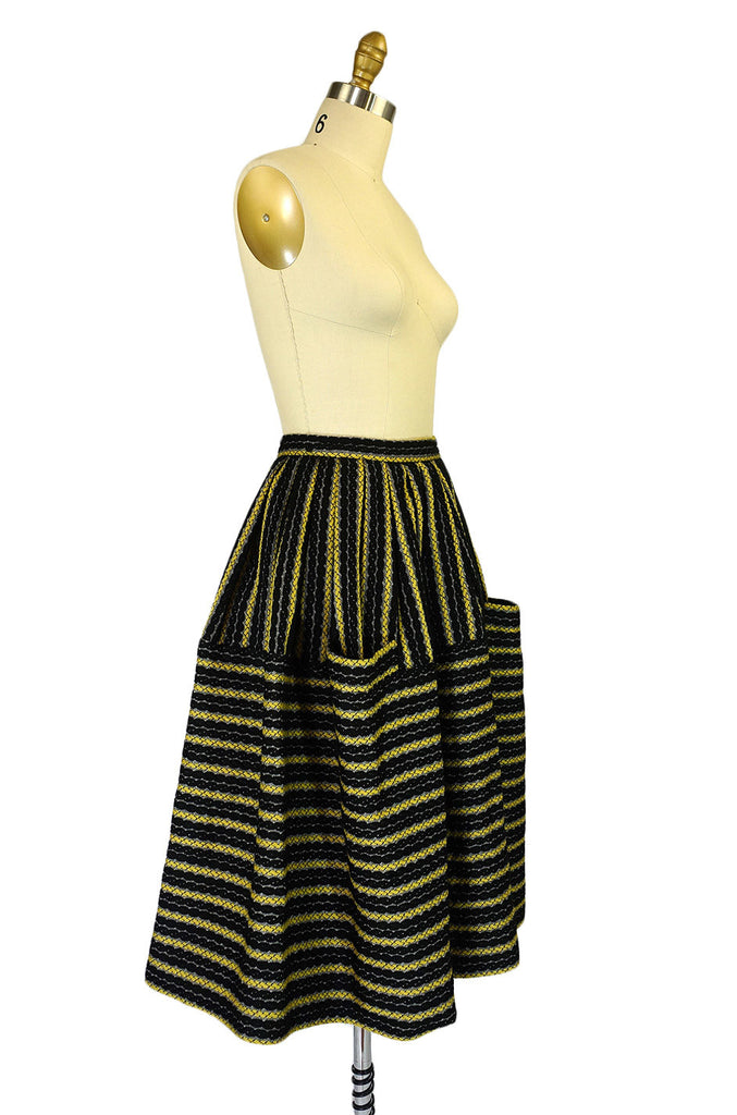 Amazing 1950s Woven Striped Skirt