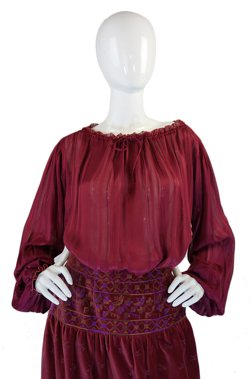 1970s Sant Angelo Skirt and Top Set