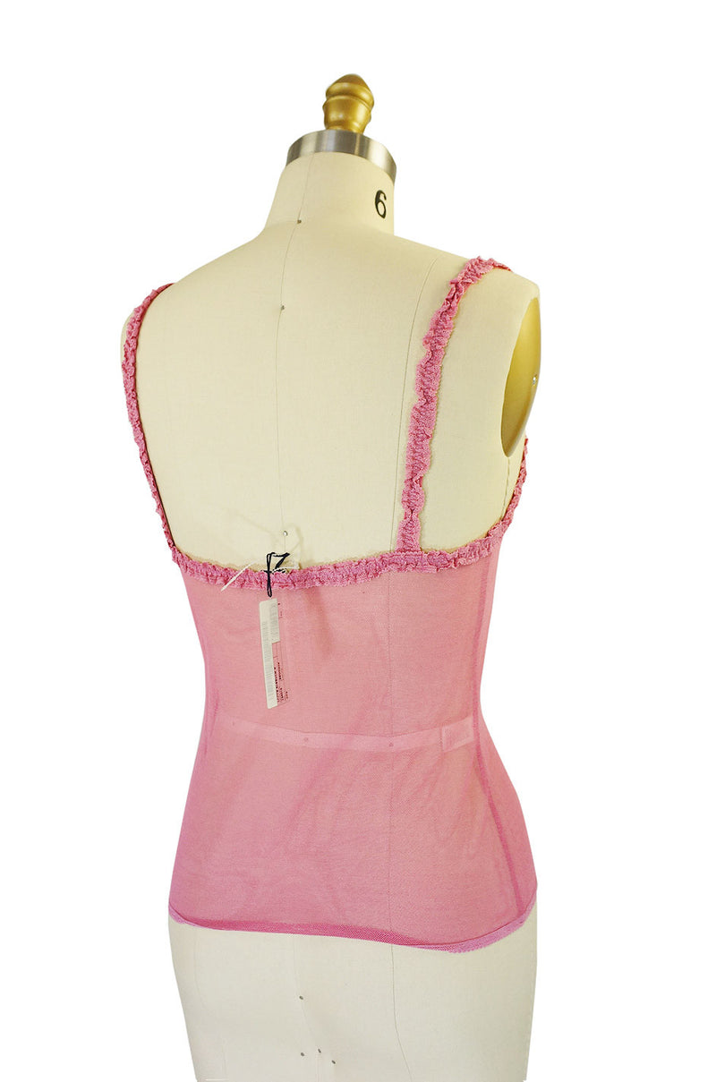 Recent Prada Pink Tulle Stretch Tank Top
