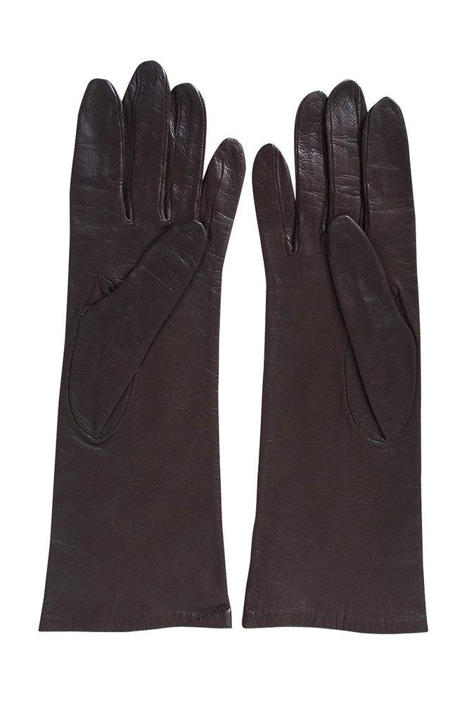 1950s Dior Leather Gloves Size 6 1/2